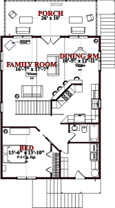 little cabin plans cottage style house plan 2 beds 2 baths 1536 sq ft plan 63 354