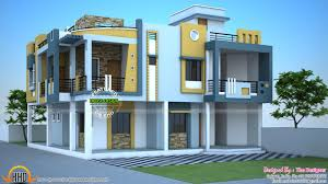 Kerala Home Design And Elevations by Duplex Floorans And Designs Modern House In India Kerala Home