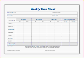 weekly timesheet template letterhead template sample