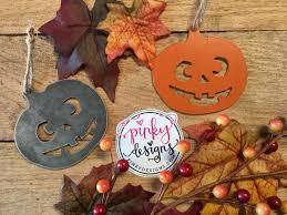pumpkin ornament halloween ornament metal ornament fall