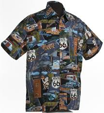 route 66 landmarks route 66 hawaiian shirt