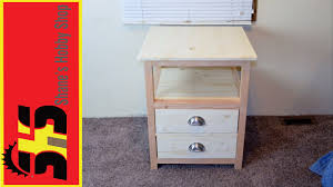 How To Make End Tables With Drawers by How To Build An End Table Tutorial Youtube