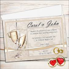 10 personalised golden 50th champagne glasses wedding anniversary