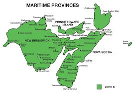Canada On Map by The Maritimes