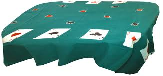 card game table cloth playing cards games green felt tablecloth 55 inch x 60 inch