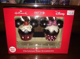 hallmark disney ornaments minnie mickey mouse cupcakes