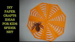 Halloween Paper Crafts For Kids Crafts Ideas For Kids Paper Spider Net Halloween Decorations
