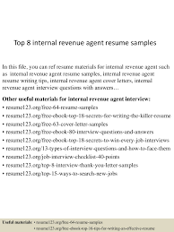 Resume Sample Internal Position by Top8internalrevenueagentresumesamples 150723081435 Lva1 App6891 Thumbnail 4 Jpg Cb U003d1437639320