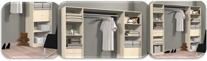 rangement placard chambre aménagements de placards kit modulaire