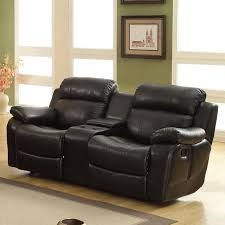 Loveseat With Recliner Oxford Creek Lyndhurst Glider Recliner Loveseat With Cupholders In