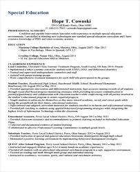 Substitute Teacher Resume Examples by 16 Basic Education Resumes Free U0026 Premium Templates
