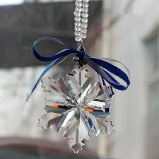 hanging car charm mirror ornaments bling snowflake pendant