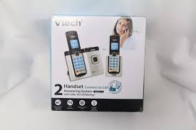 vtech 3 handset cordless digital answering system phone w caller