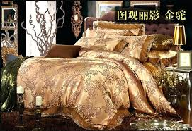 Jacquard Bedding Sets Luxury Jacquard Cotton Silk Bedding Bedding Set King Size Duvet