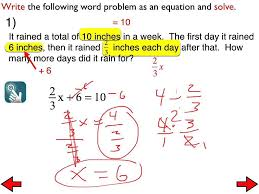 19b solving two step word problems with rational numbers you