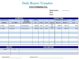 Project Daily Status Report Template Excel by Daily Report Templates Selimtd