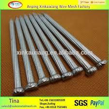 ribbed zinc galvanized hardened concrete steel nails fluted shank