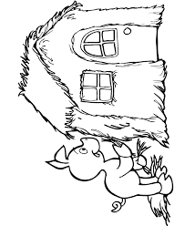 pigs wolf coloring pages