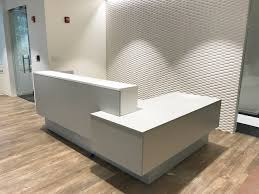 Reception Desk With Transaction Counter Modern Luxury Sleek White Reception Desk With A