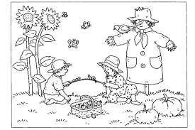 coloring pages of autumn autumn kids playing coloring page kids pinterest color sheets