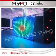 Portable Stage Curtain P8cm Led Curtain Wall Light Rgb New Led Viedo Portable Indoor