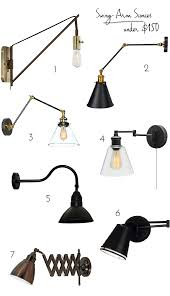 Swing Arm Sconce Lighting Swing Arm Wall Lamps Under 150 Emily A Clark