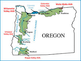 Oregon Map Outline by Oregon Wine Regions Map Oregon Wine Willamette Valley Map