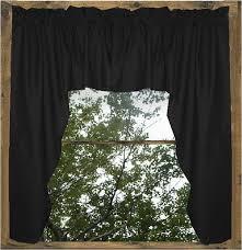 Sheer Swag Curtains Valances Black Swag Window Valance Set