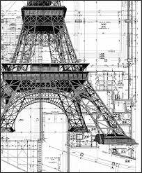 Architectural Layouts Eiffel Tower Layout Imagine The Complexity Build Something