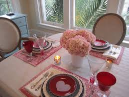 Red Dining Room Sets by Decor Pink Theme Valentine Pink Flowers Decor Red Glasses Red