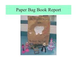 paper bag book report template book in a bag book reports