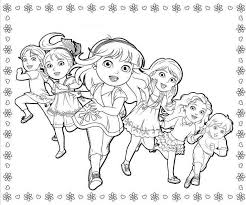 dora friends coloring pages download print free