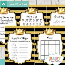 black and gold royal prince baby shower games d271 baby printables