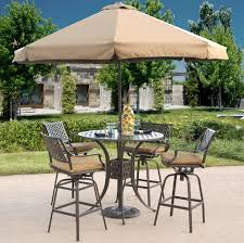 trying bar height patio table and chairs at home