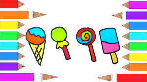 how to draw ice cream lollipop and candy i coloring pages for