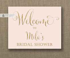 bridal shower signs blush pink gold glitter welcome sign bridal shower wedding