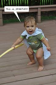 This Is Sparta Meme - this is sparta spartan baby quickmeme