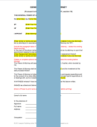 power of authority template general power of attorney form template sle lawpack co uk