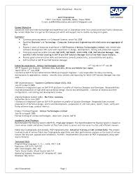 Resume Sample With Cover Letter by Sap Abap Resume Sample Resume Cv Cover Letter Sap Abap Resume