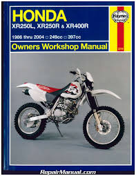 honda xr250l xr250r xr 400r 1986 2004 haynes repair manual