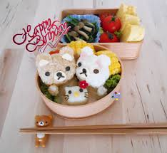rilakkuma and hello kitty cake birthday bento bento days