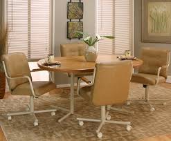 kitchen table with swivel chairs casual rectangular dinner table w 4 swivel chairs by cramco inc