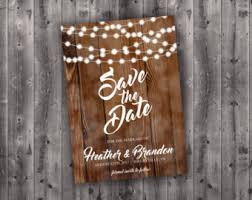 affordable save the dates rustic postcard etsy