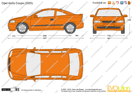 opel astra 2005 coupe the blueprints com vector drawing opel astra g coupe