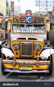 jeepney interior philippines philippines circa july 2005 colorful jeepney stock photo 475527