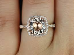 morganite engagement ring gold rosados box barra 9mm 14kt gold morganite and diamonds