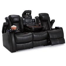 Viva 2577 Home Theater Recliner Omega Leather Gel Home Theater Media Sofa Power Recline Sofa