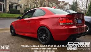 matte red bmw vmr v703 vb3 csl style wheels for bmw matte black 18
