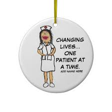 life changing nurse cartoon christmas ornament nurse cartoon