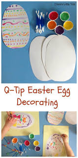 q tip easter egg decorating eggs toddlers and kid
